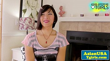 Asian shemales xxx thumbs Tgirl natalie chen interview and tug fun