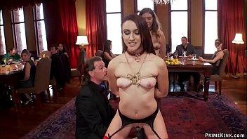Hot slaves sreving at brunch party