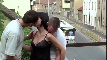 Public videos sex - Extreme sex video a little chick fuck by 2 big guys in public at a train bridge