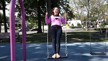 Cams4free.net - Barefoot Redhead on a Swing thumbnail