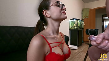 Blowjob and Handjob Closeup - Cum On Tits
