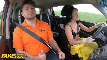 Fake Driving School Lexi Dona Takes Off her Hazmat Suit and Fucks Instructor