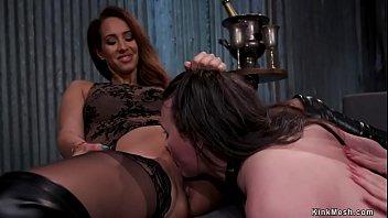 Lezdoms anal toying bound lesbian