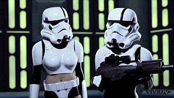 Vivid Parody - 2 Storm Troopers Enjoy Some Wookie Dick