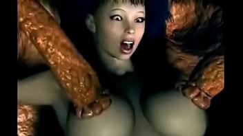 3D animácie monštrum porno