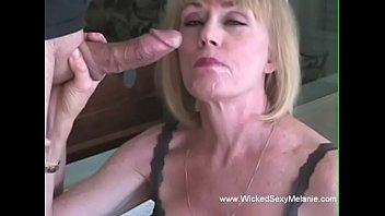 Amateur GILF Licks The Cock