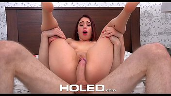 HOLED - Erin Grey gives boyfriend Xmas surprise with first time ass fuck