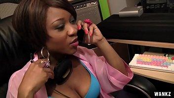 WANKZ- Ebony Sex Bomb Imani Rose Gets Vanilla Iced