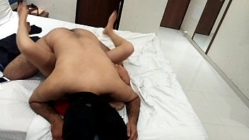 Husbund Fucking his Wife's Friend in Red Sexy Dress at her home when his housewife not at home hindi audio-Listen in Earphone