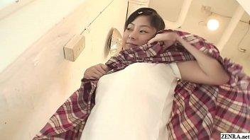 Uncensored tiny Japanese teen soapy handjob in shower