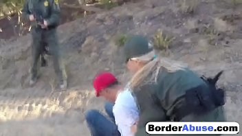 Border sex free movies Shameless amateur sluts get fucked hard in three way with border patrol agent