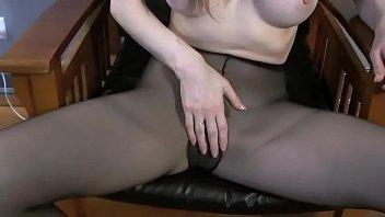 Candle Boxxxs Hitachi orgasms in Pantyhose - allherluv thumbnail