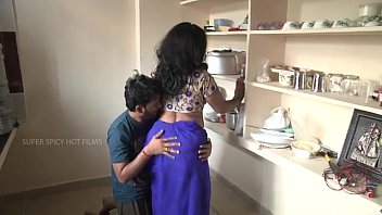 Mature misc romance Indian mother and son romance in kitchen