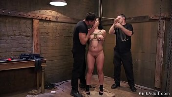 Busty Asian anal fuck slave training