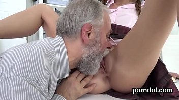 Fervid schoolgirl is tempted and penetrated by her elderly teacher porn image