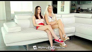 MyVeryFirstTime - Ashlee Mae & Lily Jordan first threesome