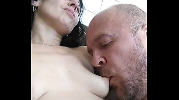 My sexy wife breastfeeding me with her big lactating pierced nipples