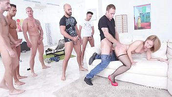 Sexy little smasher Sasha Zima - Anal endurance mini gangbang!