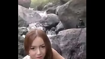 Sexy angel - Natalee Achiel Steppe @ waterfall.MP4