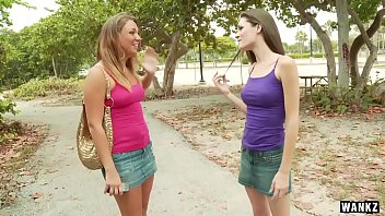 Naughty lesbian coeds - Wankz- cash strapped coed nailed with strap-on