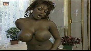 Ebony Massive Tits fucked by 10 inch white dick