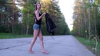 Amazingly Hot Blonde Maria`s Barefoot Walk Part 1- www.prettyfeetvideo.com