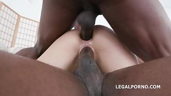 First DAP attempt with Caty Kiss, Balls Deep Anal, DP, DAP, Gapes, Creampie and Swallow GL085