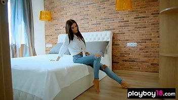 Tiny Ukranien babe shows her perfect body to the camera