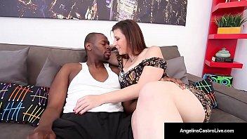 Cuban BBW Angelina Castro & Sara Jay Suck A Big Black Cock!
