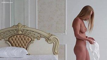 Real blonde big tits Darina Nikitina orgasmic massage