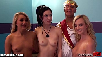 AJ APPLEGATE and Her Girlfriends HOMEMADE ORGY with Prince Yahshua!