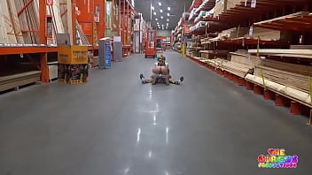 Clown gets dick sucked in The Home Depot