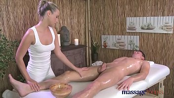 Massage Rooms Sweet sensual blonde has intense orgasm from big cock