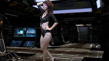Modeling nude photo woman Spaceship model video shoot