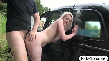 Sexy blonde babe railed in her coochie