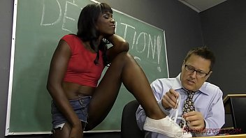 Sexy teacher seducing Black student seduces her teacher into becoming her slave- ana foxxx femdom