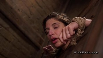 Download bondage kinky bdsm Bound in wooden device slave anal banged