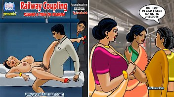 Cartoon comic porn strip Velamma episode 68 - railway coupling running a train on velamma