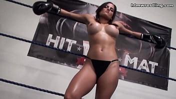 Hottest Latina Femdom POV Boxing Beatdown Topless