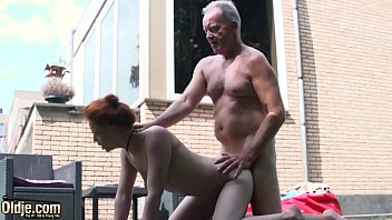 Redhead porn cumshots Teen nympho fucked hardcore in old and young porn video by grandpa with big dick