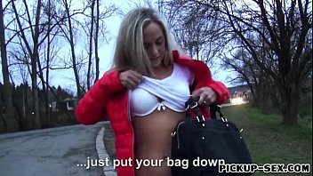 Eurobabe Shanie Ryan picked up and pussy pounded for money