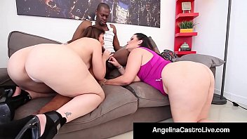 Bigboobs and big dicks - Cuban queen angelina castro sara jay blow a big black dick