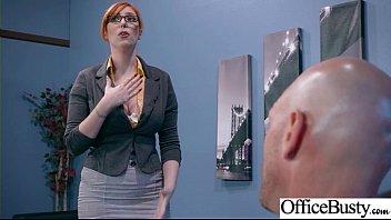(Lauren Phillips) Sexy Big Tits Office Girl Love Hard Sex clip-22
