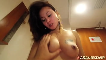 Horny Asian MILF becomes lost in her pleasure for 1st white cock