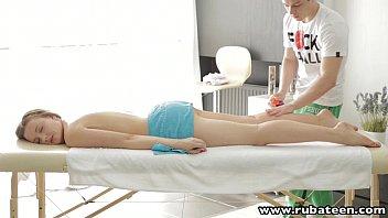 RubATeen Smalltits Russian teen fucked after massage