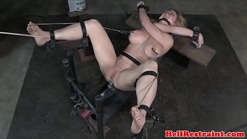 Bigtitted restrained nt submissive caned