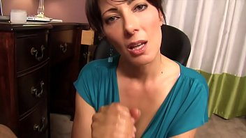 Sensual Handjob and BJ From Horny StepMom