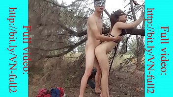 Asian couple have sex in the jungle part 2 -