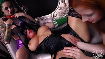 CATWOMAN GETS FISTED cosplay Batman parody Mallory Sierra Lady Fyre thumbnail