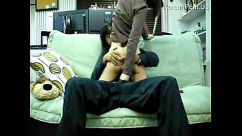 Nice skinny korean fucked on couch